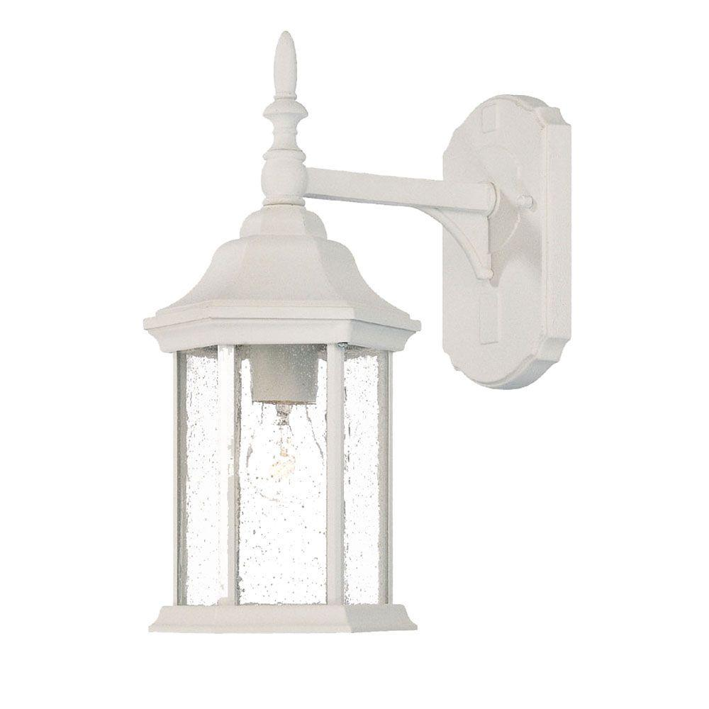 Acclaim Lighting Craftsman Collection 1-Light Textured White Outdoor Wall-Mount Light Fixture