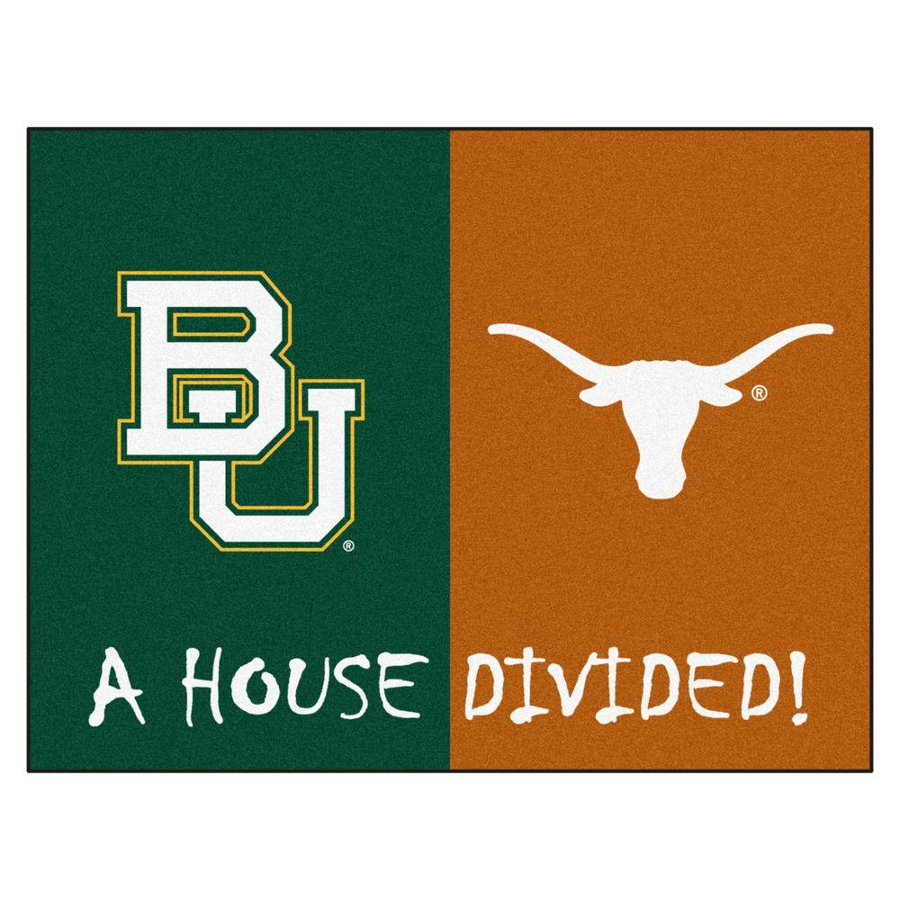 Fanmats Ncaa Baylor Texas House Divided 2 Ft 10 In X 3