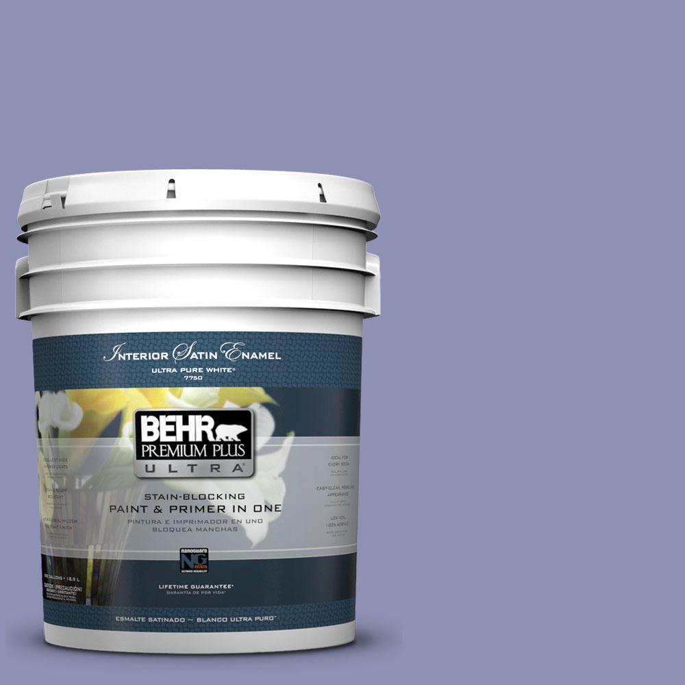 BEHR Premium Plus Ultra 5-gal. #630D-5 Wild Wisteria Satin Enamel Interior Paint