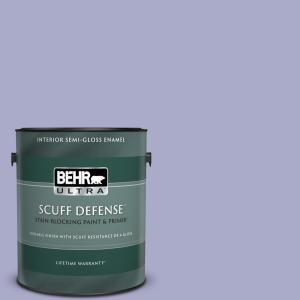 Behr Ultra 1 Gal M550 4 Wisteria Blue Extra Durable Semi Gloss Enamel Interior Paint Primer 375001 The Home Depot