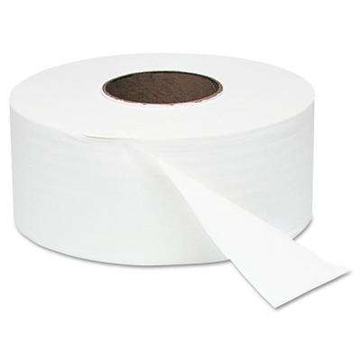 9 in. Dia x 2000 ft. White Jumbo Roll 1-Ply Bath Tissue (12 Rolls/Carton)
