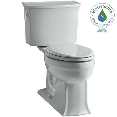 Archer Comfort Height 2-piece 1.28 GPF Single Flush Elongated Toilet with AquaPiston Flushing Technology in Ice Grey
