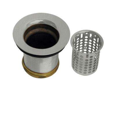 2 in. Basket Sink Strainer in Satin Nickel