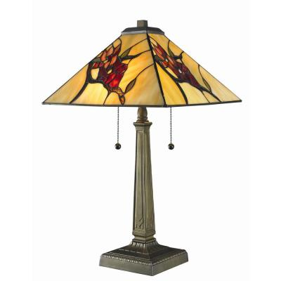 Tiffany Floral Mission 23 in. Bronze Table Lamp
