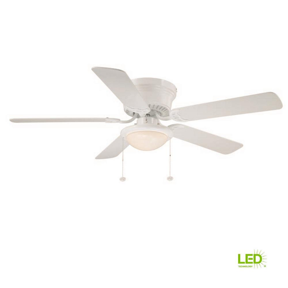 Led Indoor White Ceiling Fan With Light Kit Al383led Wh The Home Depot