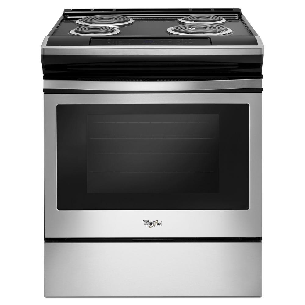 Whirlpool 30 in. 4.8 cu. ft. Electric Range in Stainless ...