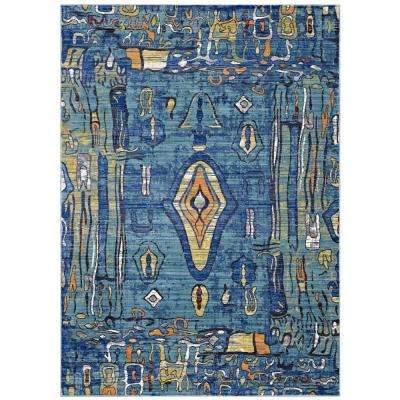 Yaretzi Distressed Southwestern Aztec 4 ft. x 6 ft. Area Rug in Multicolored