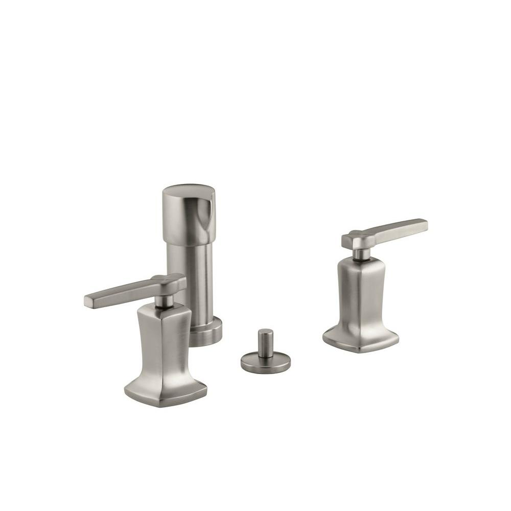Margaux 2-Handle Bidet Faucet in Vibrant Brushed Nickel