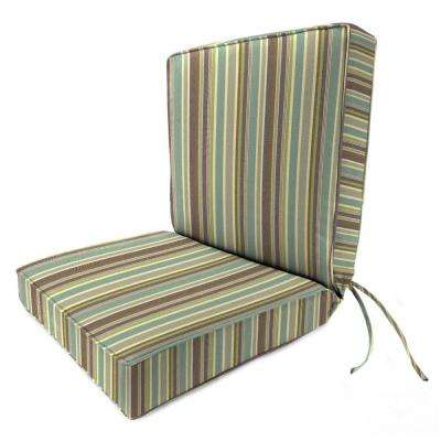 19 x 17 Outdoor Dining Chair Cushion in Sunbrella Brannon Whisper