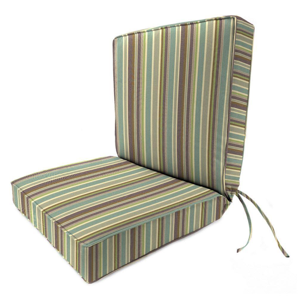Sunbrella Brannon Whisper Outdoor Dining Chair Cushion