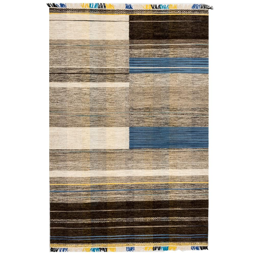 Solo Rugs Grit And Ground Tribal Ceremony Iv Gray 6 Ft X 9 Ft Hand Knotted Area Rug Gg010501014 The Home Depot