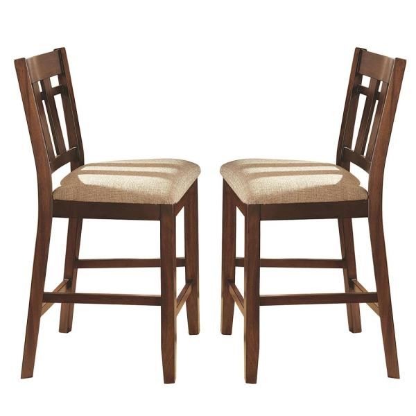 Steve Silver Company Bolton 42 in. Brown Counter Chair (Set of