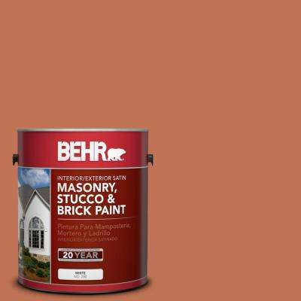 1 gal. #M200-6 Oxide Satin Interior/Exterior Masonry, Stucco and Brick Paint