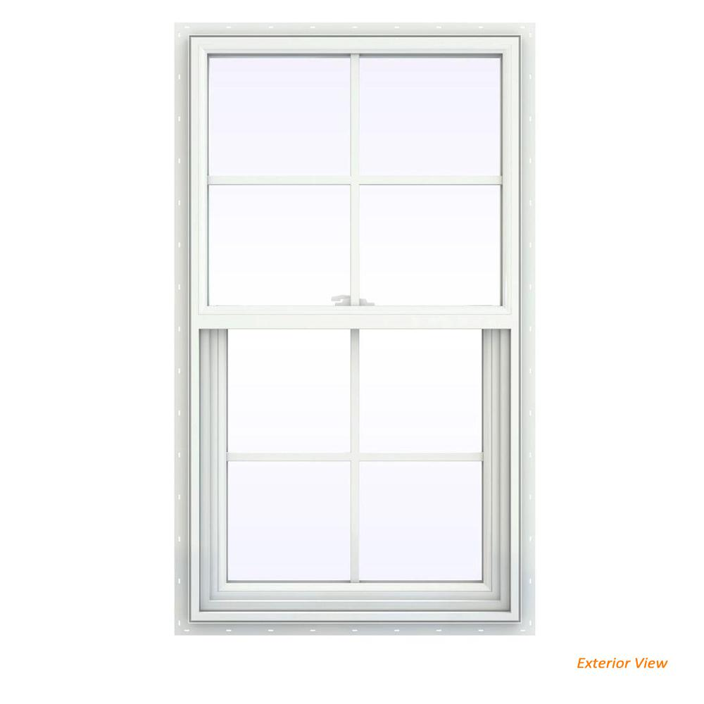 23.5 in. x 47.5 in. V-2500 Series White Vinyl Single Hung