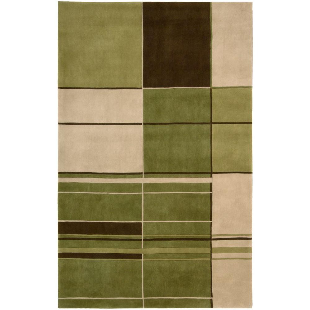 Nourison Overstock Dimensions Green 8 ft. x 11 ft. Area Rug