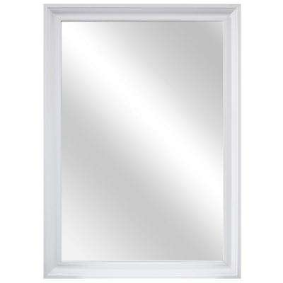 29 in. W x 40 in. L Framed Fog Free Wall Mirror in White