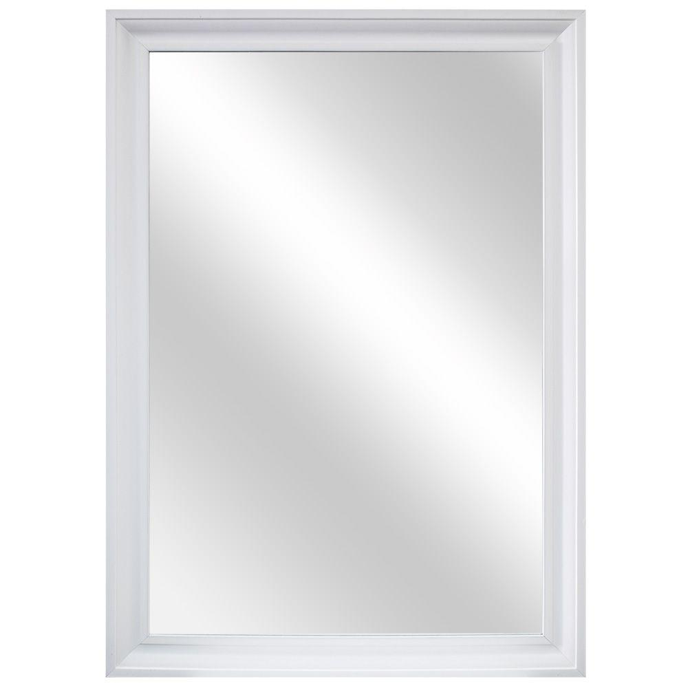 Home decorators collection 29 in w x 40 in l framed fog for White framed mirror