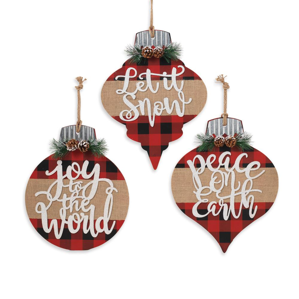 Gerson Assorted Wood Holiday Ornament (Set of 3)-2490950EC ...