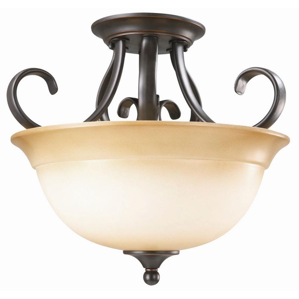 Design House Cameron 2-Light Oil Rubbed Bronze Semi-Flush