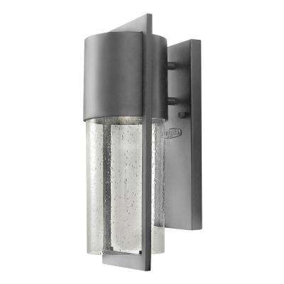 Shelter 1-Light Hematite Outdoor Wall Lantern Sconce