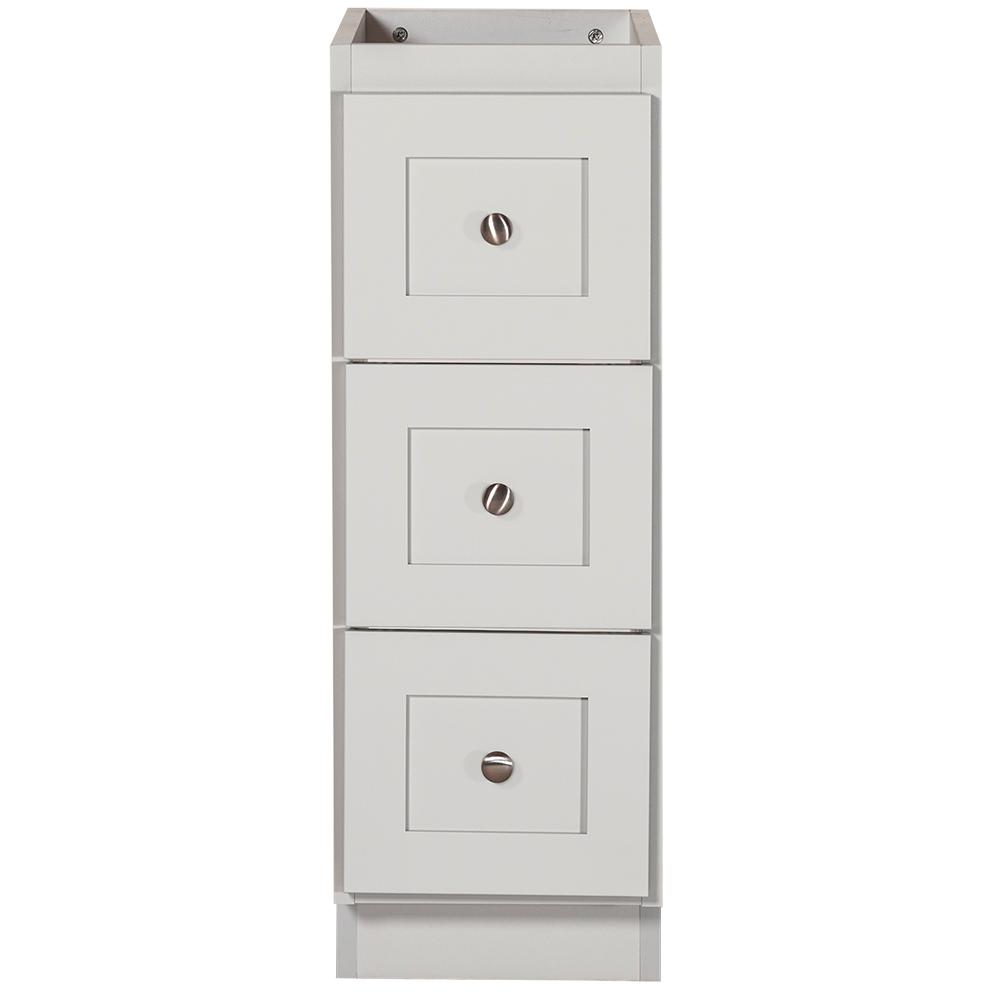 Simplicity by Strasser Shaker 12 in. W x 21 in. D x 34.5 in. H Bath Vanity Cabinet Only with Drawer Bank in Dewy Morning