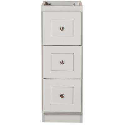 Shaker 12 in. W x 21 in. D x 34.5 in. H Bath Vanity Cabinet Only with Drawer Bank in Dewy Morning
