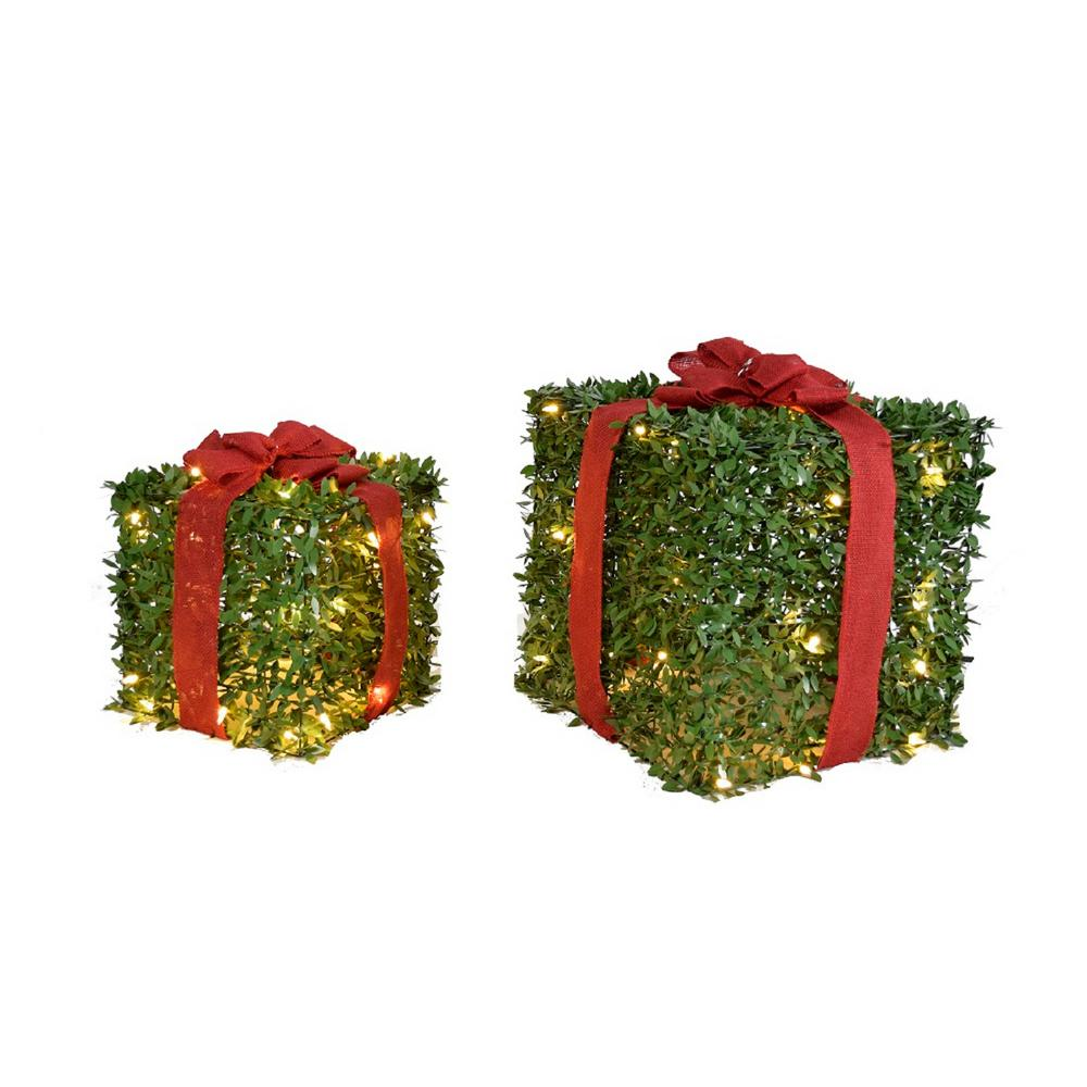 12 Home Decor Gift Ideas From Walmart: 12/15 In. Topiary Gift (Set Of 2)-17915
