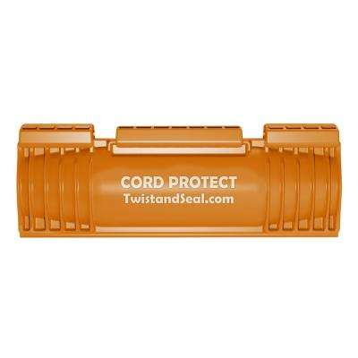 Cord Protect Outdoor Extension Cord Cover and Plug Protection, Orange