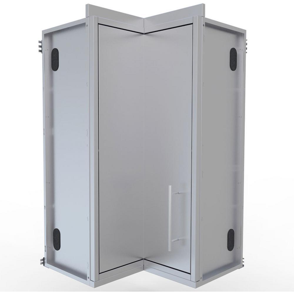 Sunstone Steel Outdoor Cabinet Full Door Corner Cabinet Shelves
