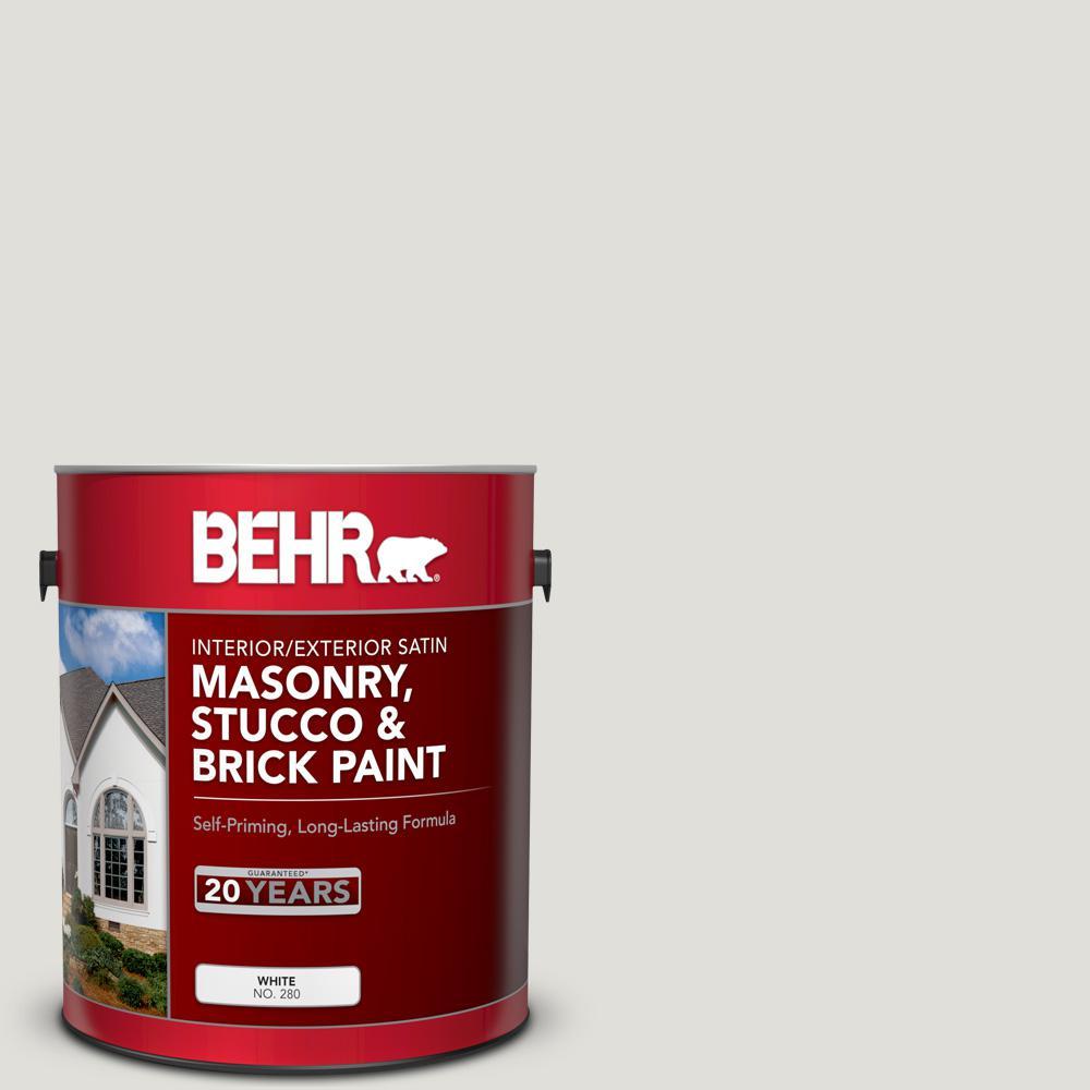 1 gal. #MS-87 Dove Gray Satin Masonry, Stucco and Brick Interior/Exterior Paint
