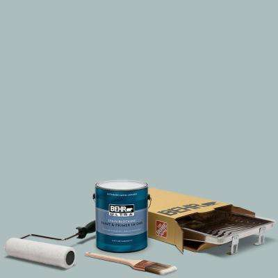 1 gal. #HDC-CT-26 Watery Ultra Satin Enamel Interior Paint and 5-Piece Wooster Set All-in-One Project Kit