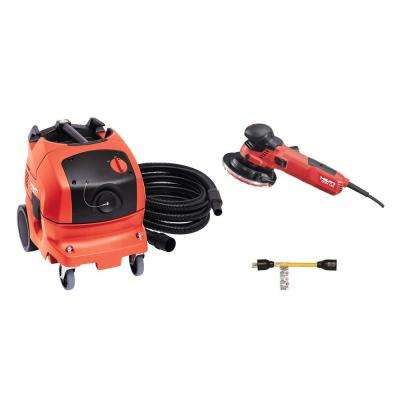 120-Volt 10.9 Amp Corded 5 in. Diamond Grinder Kit with VC 150-6 XE Vacuum and Adapter