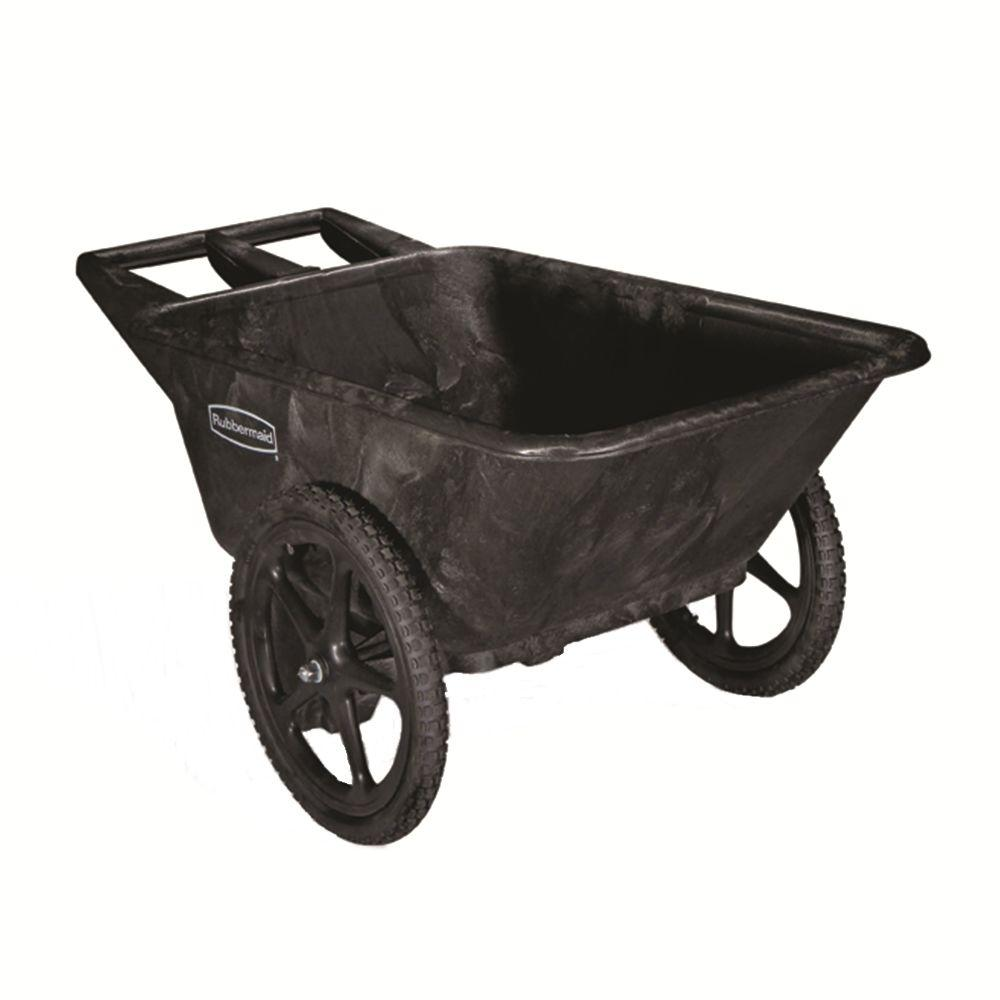 Rubbermaid Commercial Products 7.5 Cu. Ft. Plastic Yard Cart