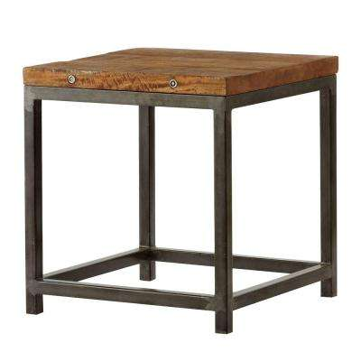 Holbrook Natural End Table. Rustic   Accent Tables   Living Room Furniture   The Home Depot