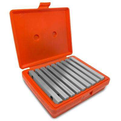 6 in. x 1/4 in. Precision-Ground Parallel Gauge Sets with Case (18-Piece)