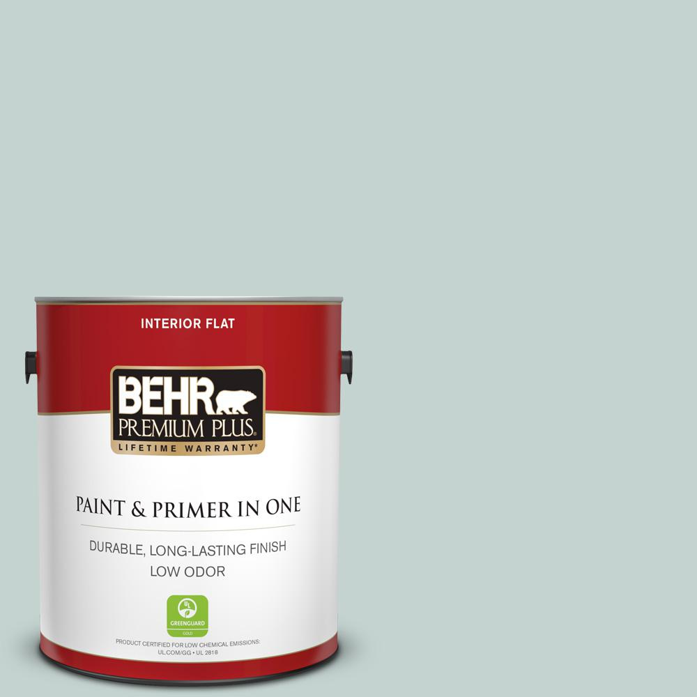 Behr Premium Plus 1 Gal 490e 3 Celtic Gray Flat Low Odor Interior