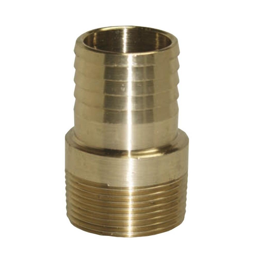 Everbilt 1 in  Brass Pitless Adapter-EBPA100NL - The Home Depot