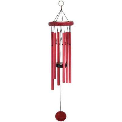 22 in. Burgundy Hand-Tuned Round Wind Chime