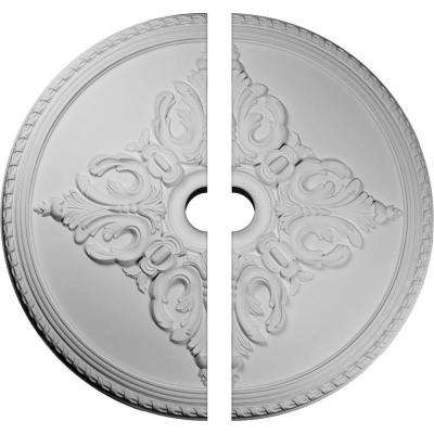 54-1/4 in. x 6 in. x 2-7/8 in. Milton Urethane Ceiling Medallion, 2-Piece (Fits Canopies up to 10-1/2 in.)