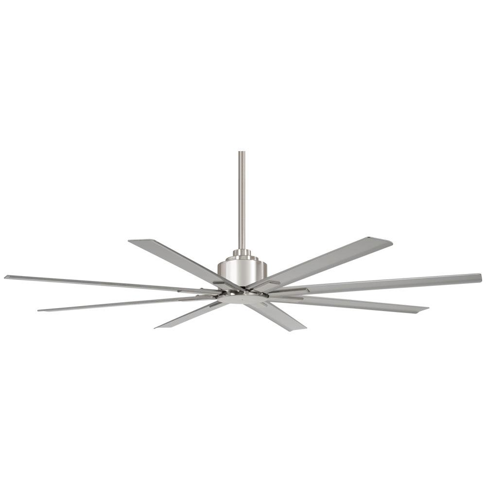 Minka-Aire Xtreme H2O 84 in. Indoor/Outdoor Brushed Nickel Wet Ceiling Fan with Remote Control
