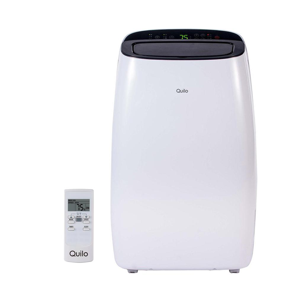 Quilo 14,000 BTU 115-Volt Portable Air Conditioner with Remote Control and Dehumidifier in White