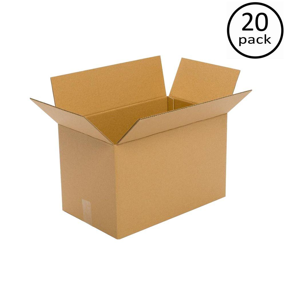 Plain Brown Box 20 in. x 16 in. x 14 in. 44 ECT 20-Box Bundle