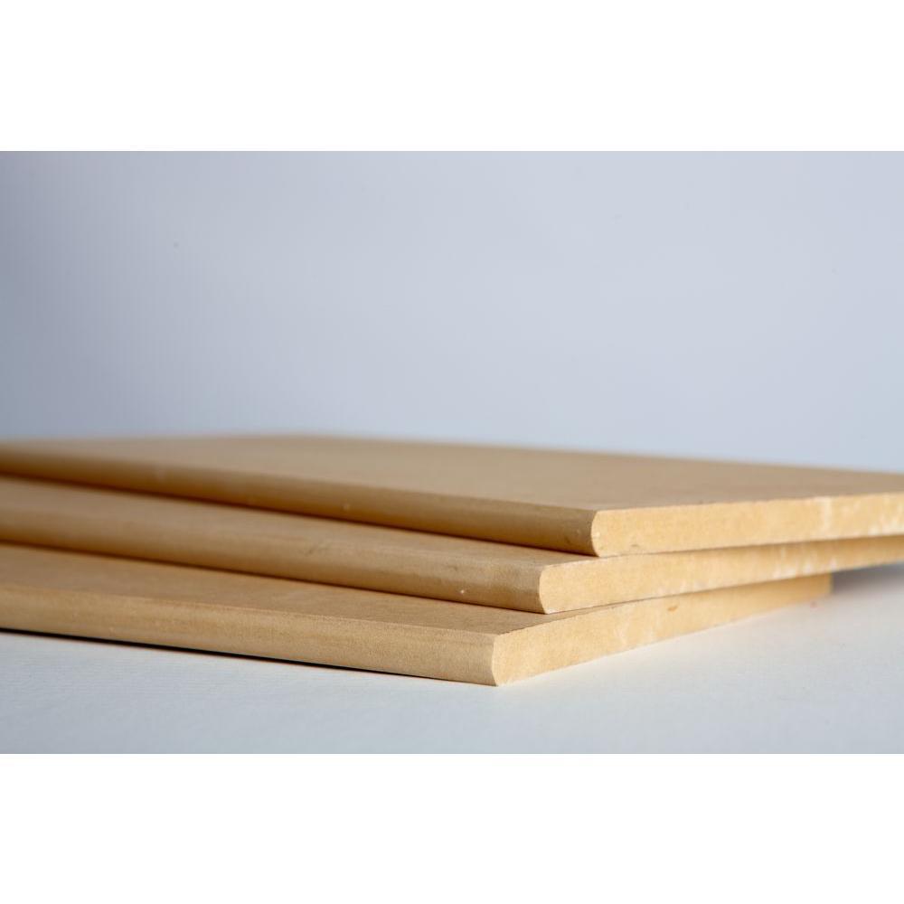3/4 in. x 11-1/4 in. x 8 ft. Bullnose Shelving MDF Board