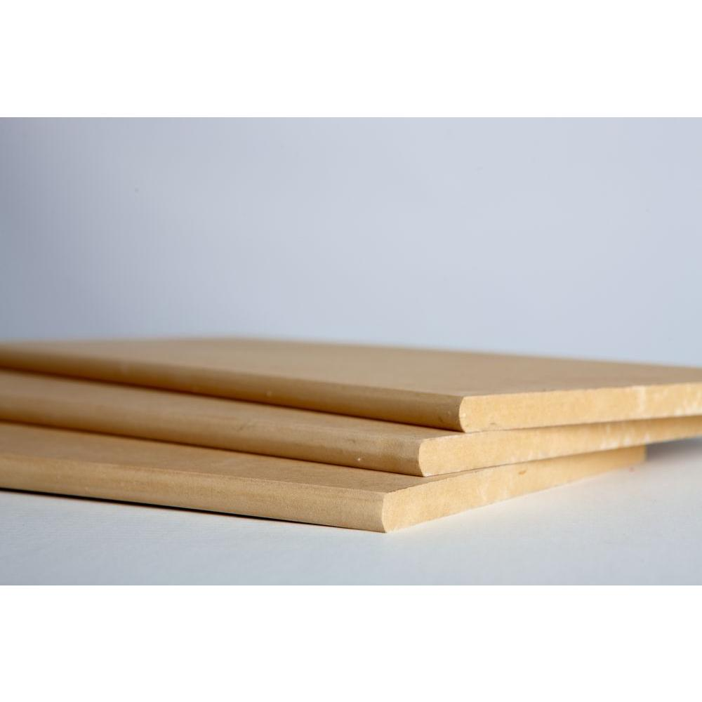 Unbranded 3 4 In X 11 1 4 In X 8 Ft Bullnose Shelving Mdf Board 13697 The Home Depot
