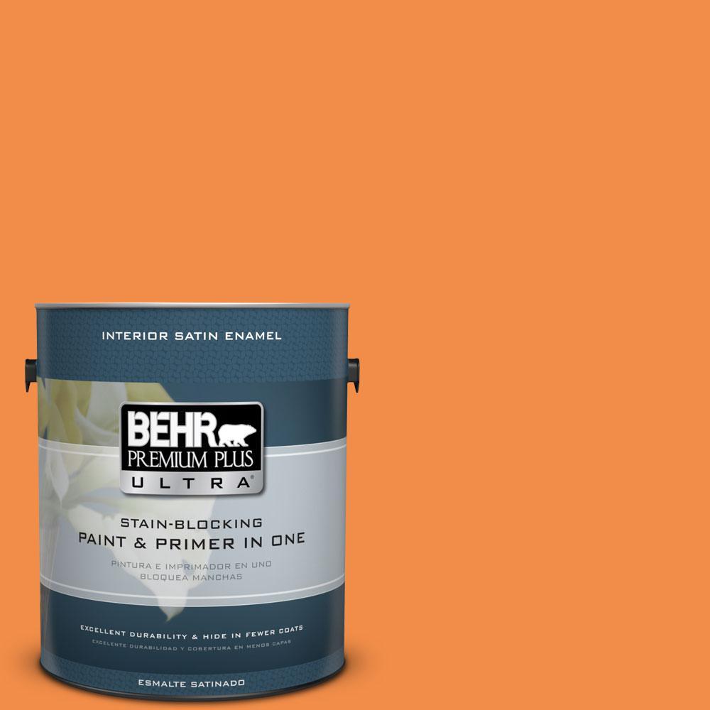 1-gal. #250B-6 Poppy Glow Satin Enamel Interior Paint