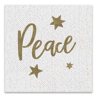 """Peace"" by Lot26 Studio Glitter Embellished Canvas Wall Art"
