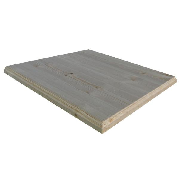 1 in. x 36 in. x 72 in. Allwood Pine Project Panel Table Island Top with Classic Roman Edges