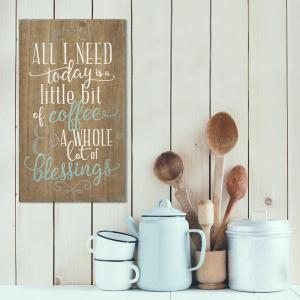 Stratton Home Decor Stratton Home Decor Coffee and Blessings Decorative Sign by Stratton Home Decor