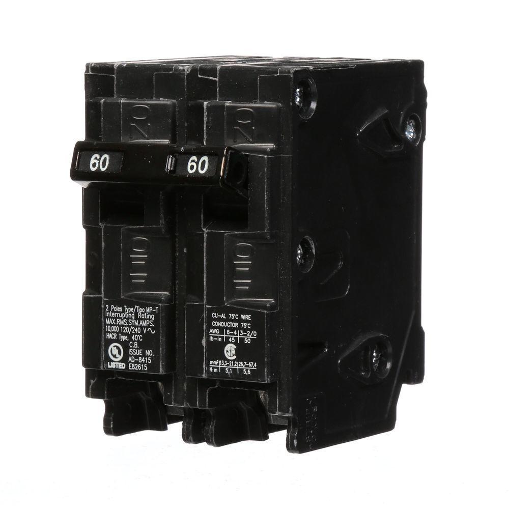60 Amp Double-Pole Type MP Circuit Breaker