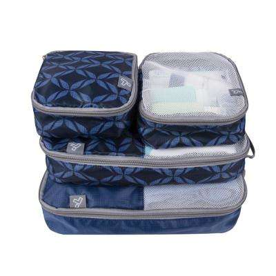 Rope Weave Pattern Packing Organizers (Set of 4)